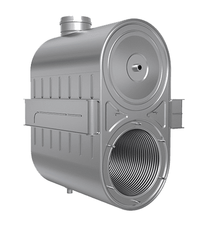 commercial boiler - heat exchanger - compact shape