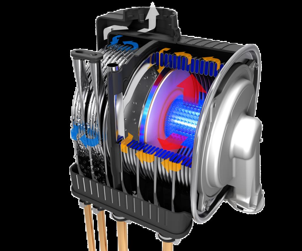 combustion des gaz - rendement de la chaudière - chaudière combinée